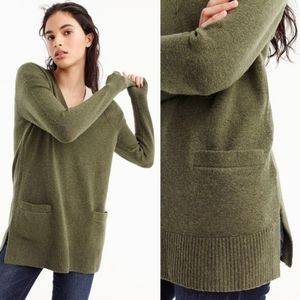 J. Crew alpaca sweater tunic v neck merino wool sz XS